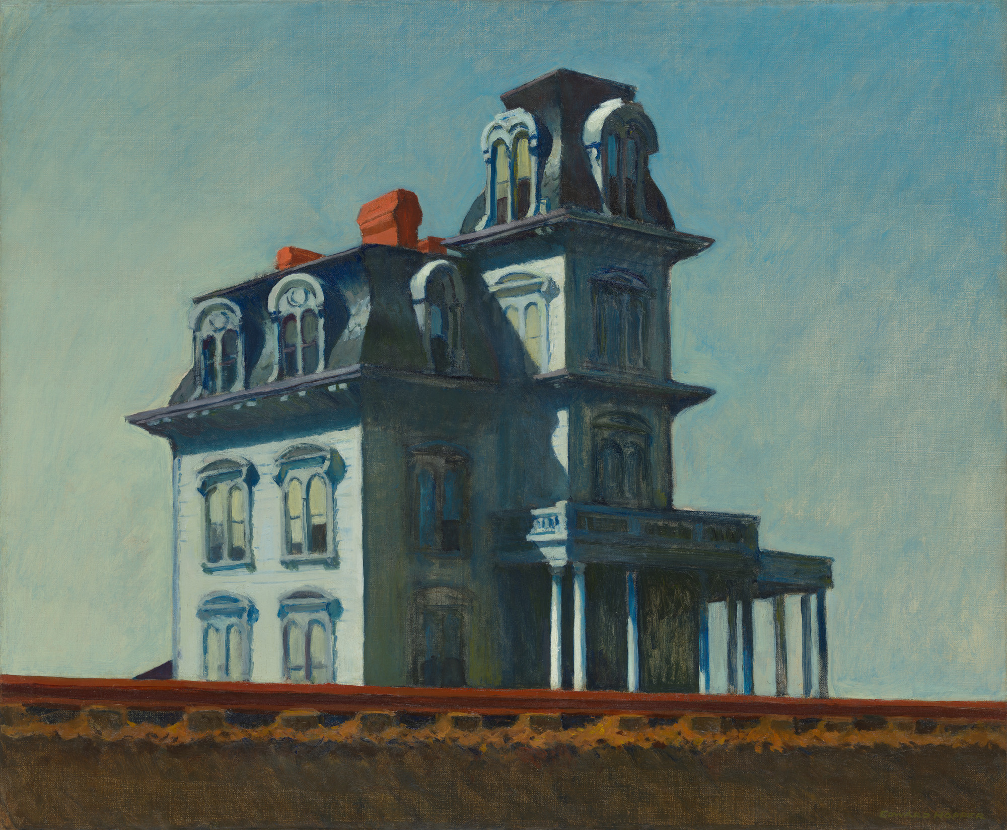 Cuadros de Edward Hopper House by the railroad
