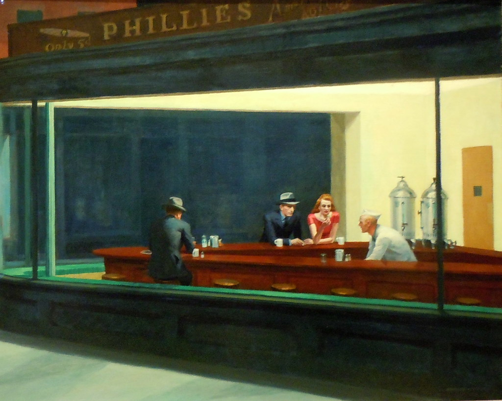 Cuadros de Edward Hopper Nighthawks