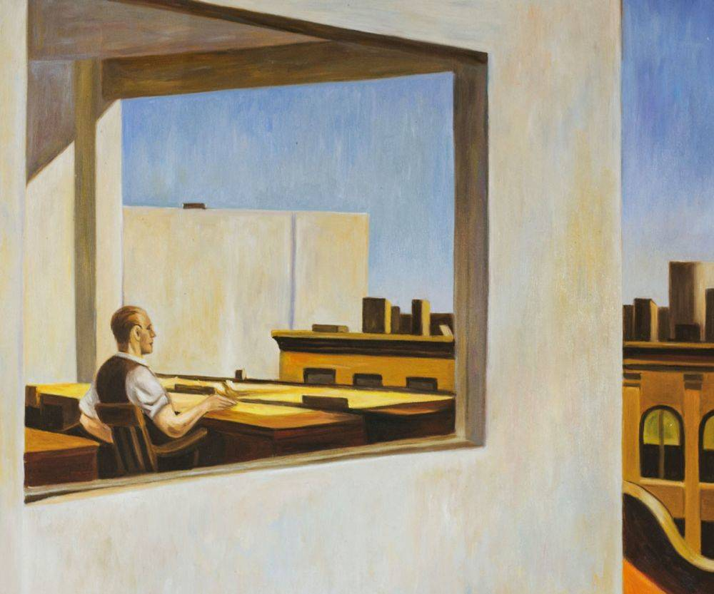 Cuadros de Edward Hopper Office in a Small City