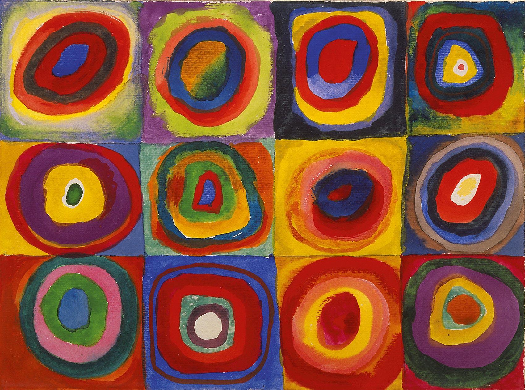 Kandinsky Cuadro con círculos concéntricos