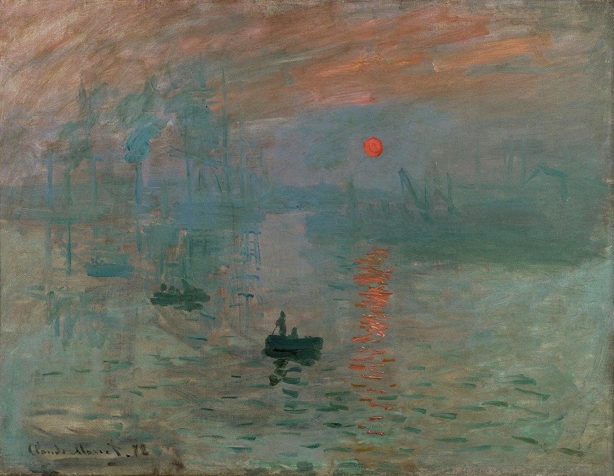 Obras de Monet Impresión, sol naciente