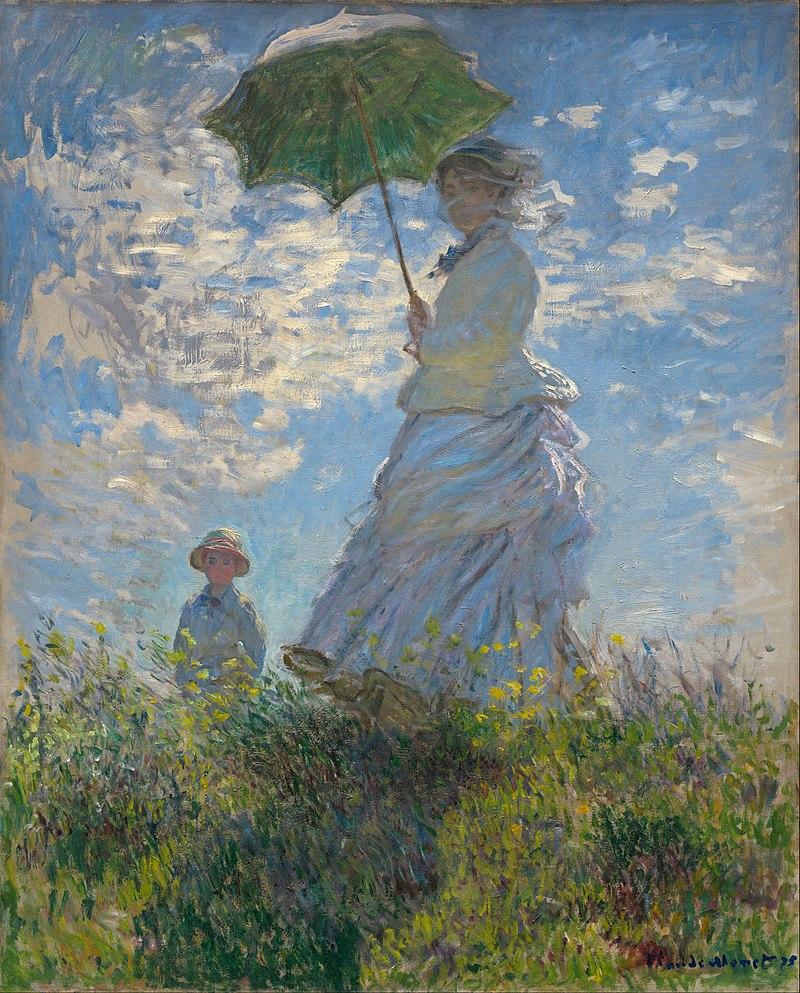 Obras de Monet Mujer con sombrilla