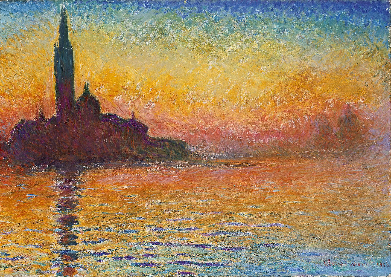 Monet San Giorgio Maggiore al atardecer