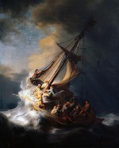 Cuadros Famosos Tormenta en el mar de Galilea