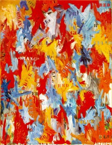 Cuadros abstractos Jasper Johns - False Start (1959)