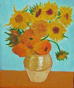 Cuadros de Van Gogh-Los Girasoles