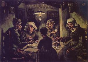 Cuadros de Van Gogh comedores de patatas