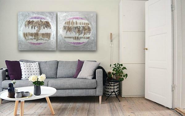 cuadros abstractos modernos salon