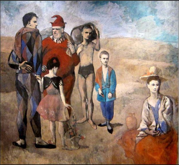 cuadros de picasso Familia de saltimbanquis