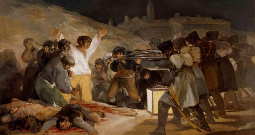 cuadros de Goya El 3 de mayo en Madrid en 1808