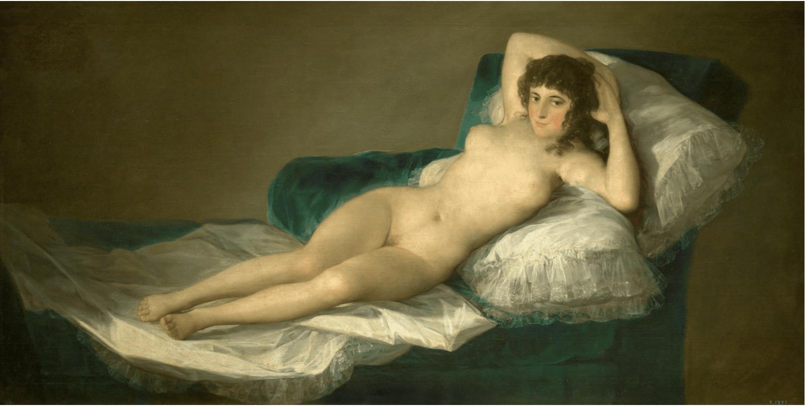 cuadros de goya- la maja desnuda