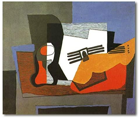 Cuadros de picasso con instrumentos musicales