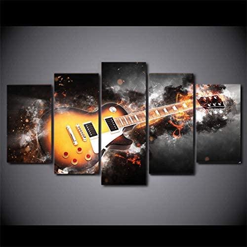 Cuadros abstractos de instrumentos musicales