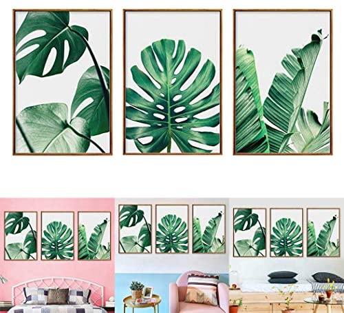 Cuadros modernos de hojas verdes