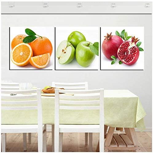 Cuadros abstractos modernos de frutas