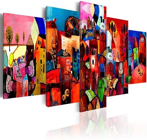 Cuadros abstractos con colores calidos