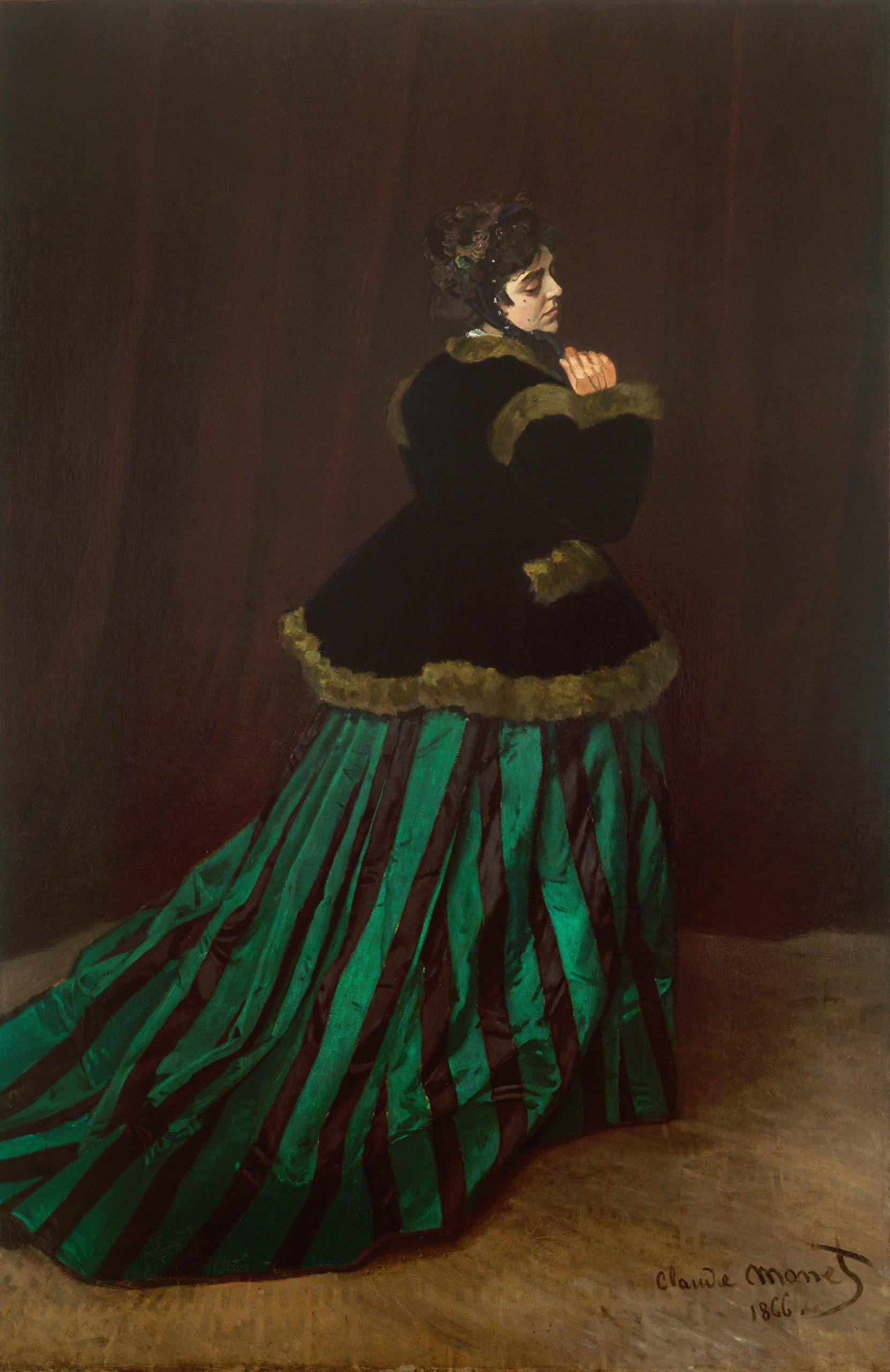 Obras de Monet Camille, La mujer del vestido verde