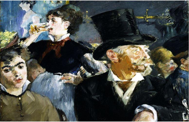 """""""En el Café"""" manet"""