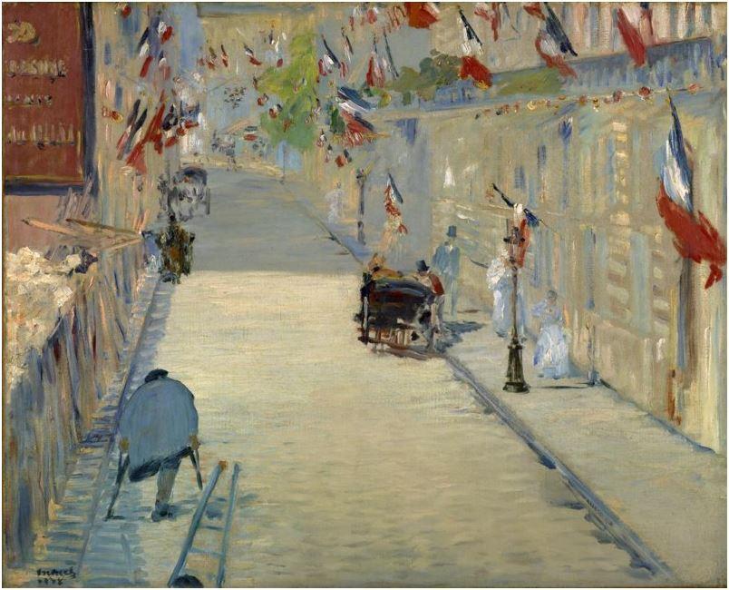 La Rue Mosnier con Banderas manet
